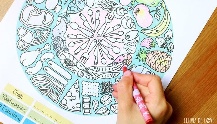 Dibujos para colorear gratis de masterchef TVE1. Actividades para niños