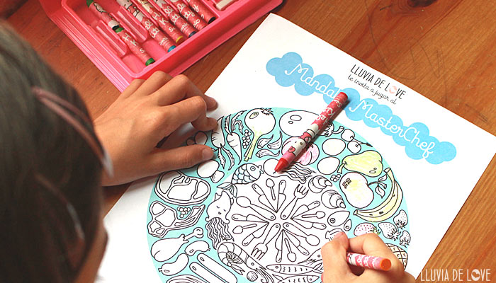 Coloreables de masterchef TVE1. Actividades para niños