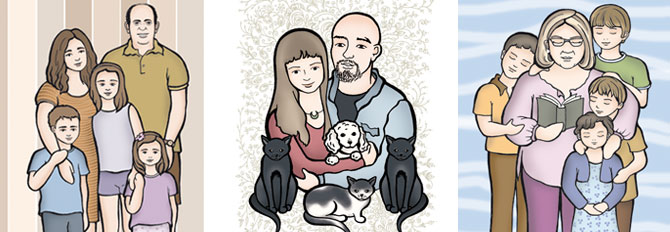 Personalización a partir de foto. Ilustración personalizada. Regalos familia y maternidad
