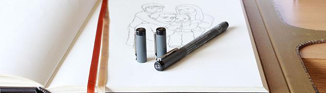 Ilustración personalizada paso a paso con rotulador. Rotular dibujo
