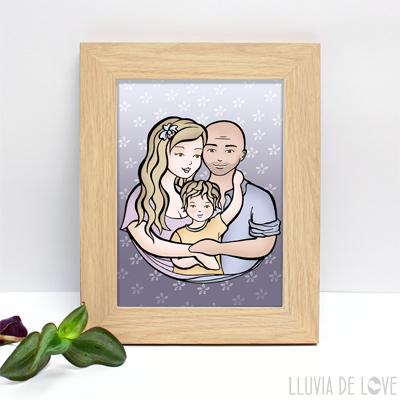 Láminas personalizadas con tus niños  para regalar a mamá, la abuela, hermanas. Para decorar el hogar con amor. Personalización a partir de foto o descripción.