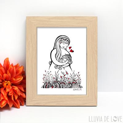 Láminas ilustradas que son el regalo perfecto para mamá en el día de la madre