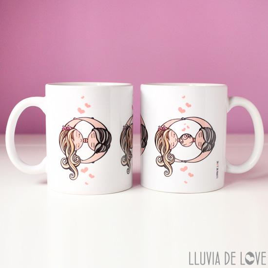 Regalos para familias, tazas bonitas para regalar a la familia, taza con bebé y sus padres. Regalos para baby shower
