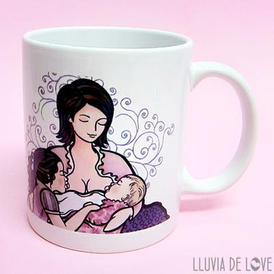 Taza personalizada de cerámica, por si no sabes qué regalar a una madre reciente o primeriza. Única y exclusiva para ella.
