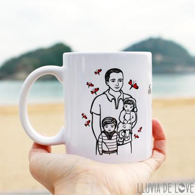 Regalos para familias: tazas personalizadas con texto y dibujo. Regalos originales y molones. Envíos a todo el mundo