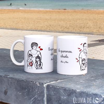 Tazas de cerámica blanca decoradas con la ilustración personalizada que haré para ti. Arte a precio asequible-
