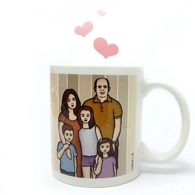 Personaliza para hacer regalos para la mejor familia del mundo. Un retrato de familia en forma de regalo práctico y original.