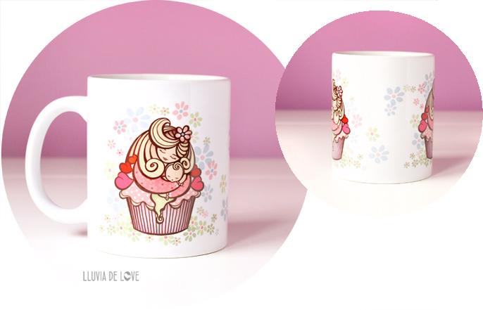 Regalos para fans de los cupcakes. Tazas con cupcakes de madres. Regalos bonitos para madres primerizas. Regalos para madres recientes. Regalos para embarazadas. Regalos de lactancia.