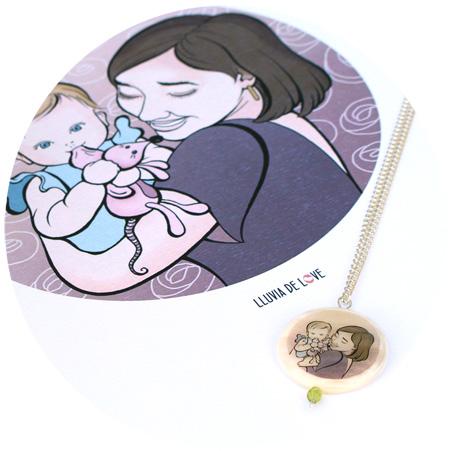 Lámina personalizada familia, regalos para madres, ilustración personalizada familias, dibujos de familia, regalos de cumpleaños para el día de la madre, colgante personalizado para mamá, colgantes personalizados madres, colgantes ilustrados