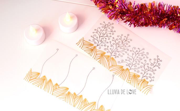 Manualidades con papel vegetal, hacer farolillos con papel vegetal