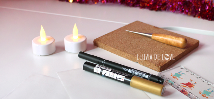 Materiales para hacer farolillos de papel con velas leds