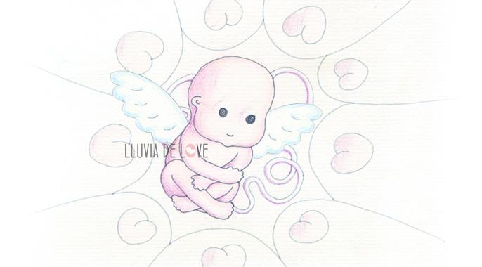 Dibujo. Duelo gestacional y perinatal. Stillbirth. Duelo perinatal. Bebé estrella