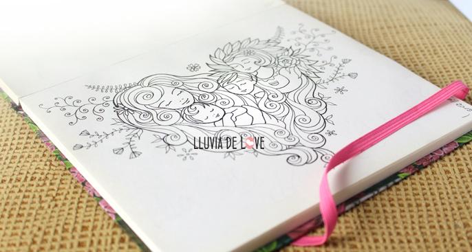 Tarjetas día de la madre para imprimir y colorear. Coloreables
