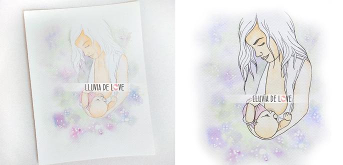 Lactante. Ilustración de lactancia. Lactancia materna. Lactancia materna exclusiva. Lactancia materna a demanda. Leche materna