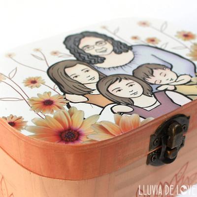 Caja de madera personalizada - Máximo 3  figuras