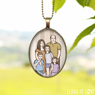 Tu familia en un retrato portáil