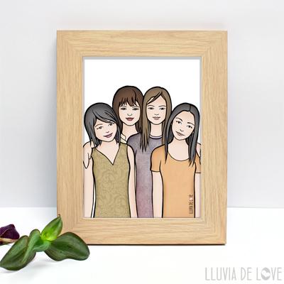 Láminas personalizadas para regalar a mamá, la abuela, hermanas. Para decorar el hogar con amor. Personalización a partir de foto o descripción.