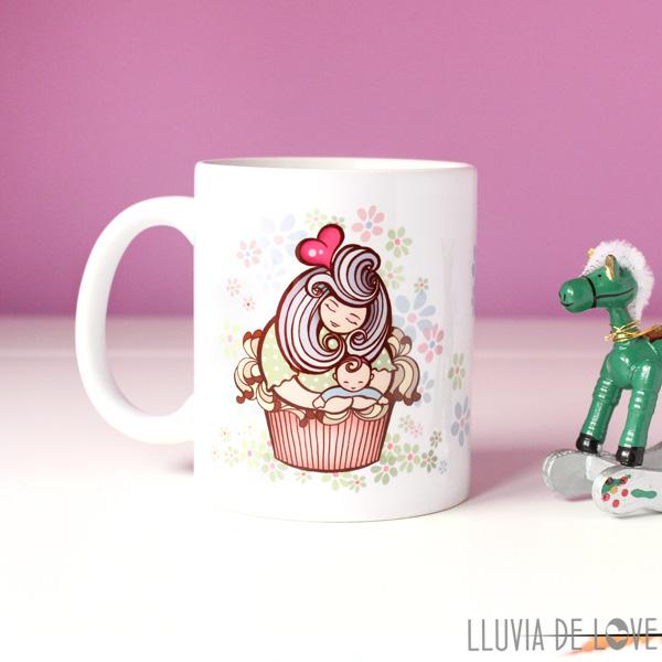 Cupcakes convertidos en madres con sus bebés - Regalos originales y diferentes para mamá, para el día de la madre, para el cumpleaños de ellas.